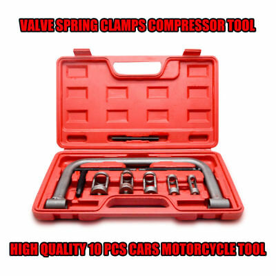 10PC Valve Spring Compressor Pusher Tool For Car Motorcycle Small Bore Engines