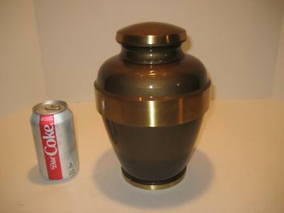 "Rare Large Solid Bronze / Brass Urn ~ 9.75"" Tall X 6 3/4"" Wide"