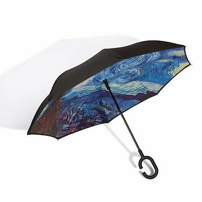 Japanese Umbrella -Van Gogh - Starry Night - Auto Open, Double-Layer, HIGH-END