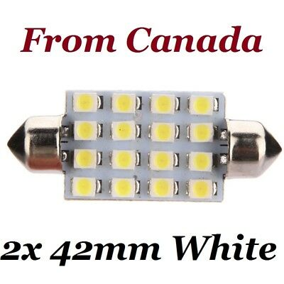2x 42mm 16SMD Car White LED Light Bulb Festoon Dome Map Interior Cargo