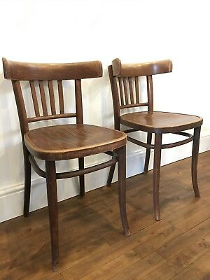 Vintage Antique. A Matching Pair of Thonet Chairs. Bentwood Cafe Bistro Polish.