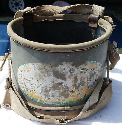 Vintage Orchard Fruit Picking Farming Bucket Bag Apple Metal Canvas Harness