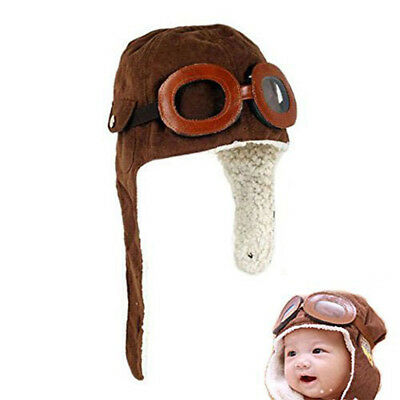 Fashion Baby Infant Kid Soft Warmer Winter Hat With Goggle And Aviator-inspired