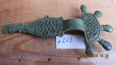 Ancient Bronze Fibula. 6-7 century. 110 mm.  Very Rare !!! #268