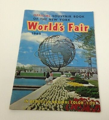 Vintage Official Souvenir Book of the New York World's Fair 1965 in natura color
