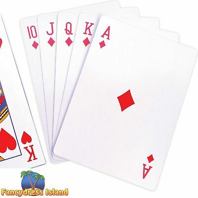 Giant Circus Playing Cards Deck Plastic Coated Games Fetes Fair Alice Novelty