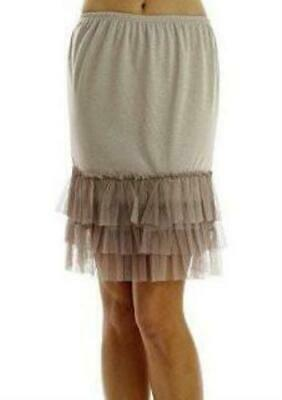 Women's Knit Half Slip Skirt Extender with tutu bottom