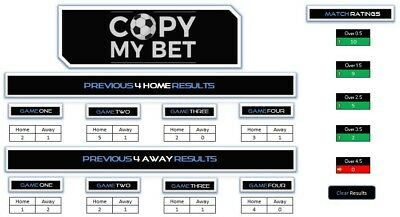 CopyMyBet - Over Under Goals Football Betting Calculator | Gambling | System