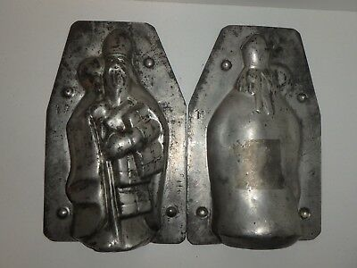 Antike Schokoladenform NIKOLAUS antique chocolate mold SANTA CLAUS TEICH # 4119