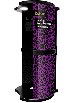 b.tan - All In One Spray Tan Booth - Purple - Tanning Booth with Extraction