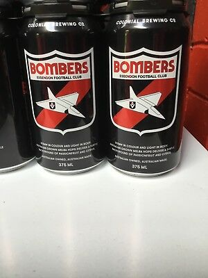 AFL Collectable Essendon Bombers Colonial Beer can (full) limited edition!!
