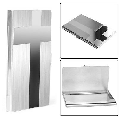 Cross Pocket Stainless Metal Business Card Holder Case ID Credit Wallet Steady