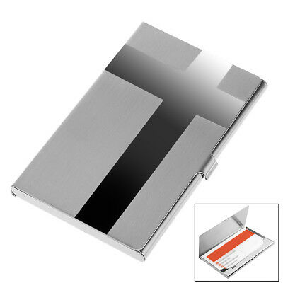 Cross Pocket Stainless Metal Business Card Holder Case ID Credit Wallet Silver