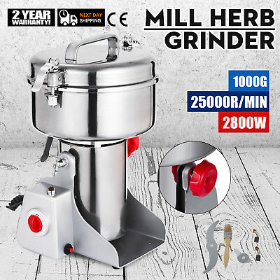 1000G Electric Herb Grain Mill Grinder Ores Salt Flour Machine Powder Grinding
