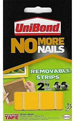 Unibond No More Nails Picture Hanging Strips Double Sided Mount Tape Adhesive UK