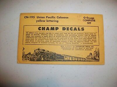 Champ O Decals SLSF Frisco Twin Hopper White and Black CN-460