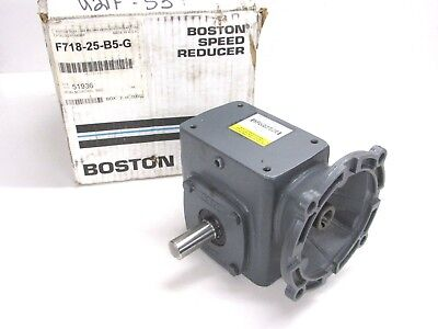 Boston Gear 700 Series Right Angle Worm Gear Speed Reducer, 25:1, F718-25-B5-G