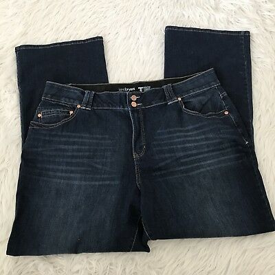 NWT Lane Bryant Tighter Tummy Stretch Boot Cut Jeans Womens Plus Size 22
