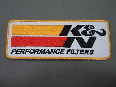 """K&N Performance Filters Iron-On Embroidered Uniform-Jacket Patch 4 1/2"""""""