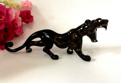 Tiger Hand Blown Glass Miniature Animal Figurine Collectible Gift Home Decor