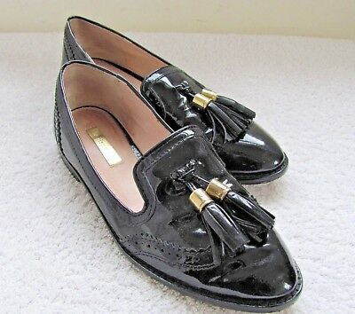 0b6053772b Louise Et Cie Joey Black Patent Leather Tassel Loafer Smoking Slipper Size  6M