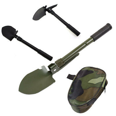 Military Folding Shovel Camping Hiking Car Emergency Survival Spade Multi-Tool