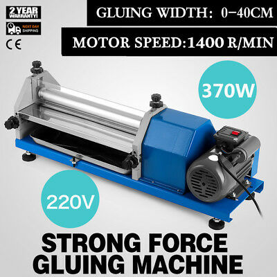 0-40cm Automatic Gluing Machine 370W Glue Coating Machine for Paper Leather CE