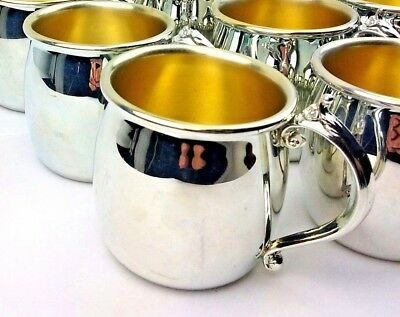 "Vintage Antique F B Rogers Silver Co. Single Handle Child's Cup 2 1/2"" Punch Cup"