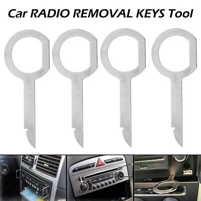 Radio Removal Tool for Volkswagen VW, Audi, and Mercedes Vehicles - 4 Pack