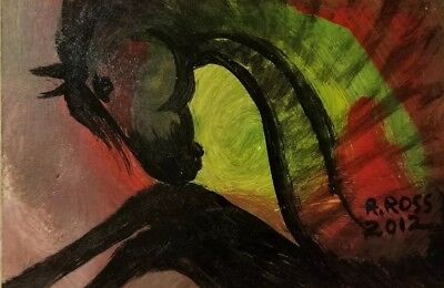 """Original Signed Painting by R. ROSS,not a copy """"Spirit Horse"""" Worldwide shipping"""