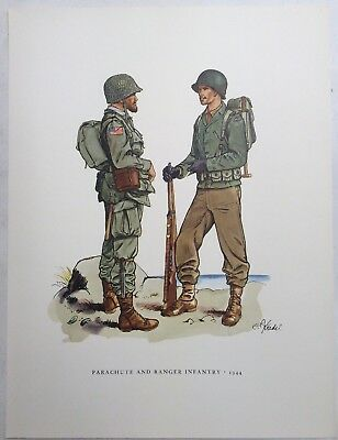 Fritz Kredel Soldiers Of The American Army Parachute And Ranger Infantry 1944