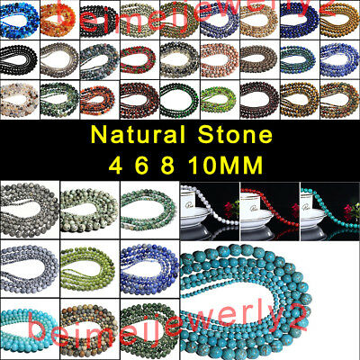 Wholesale Natural Stone Crystal Agate Gemstone Round Loose Bead Jewelry Bracelet
