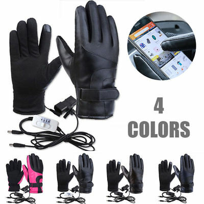 Smart Heated Gloves Men Women Winter Electric Heat Warm Motorcycle Sports Gloves