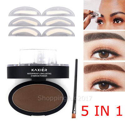 3 In1 Natural Eyebrow Powder Stamp Makeup Brow Delicated Shadow Definition OZ