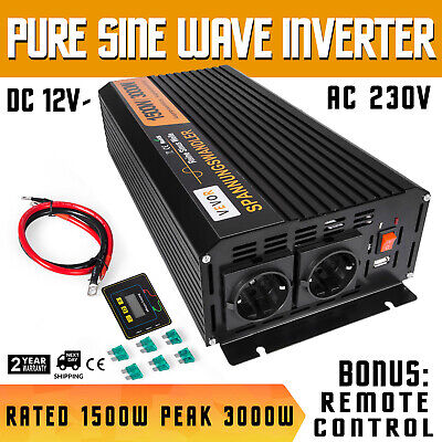 Home & Garden 700w Dc 12v To Ac 240v With Car Plug Cable Caravan Camping Home Improvement Power Inverter 350w