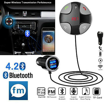 In-Car Wireless Bluetooth FM Transmitter MP3 Radio Adapter Car Kit  USB  Charger