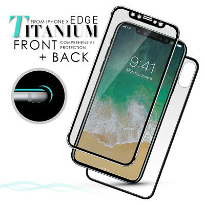 For iPhone X XS 8 7 Plus 3D Front + Back Curved Tempered Glass Screen Protector