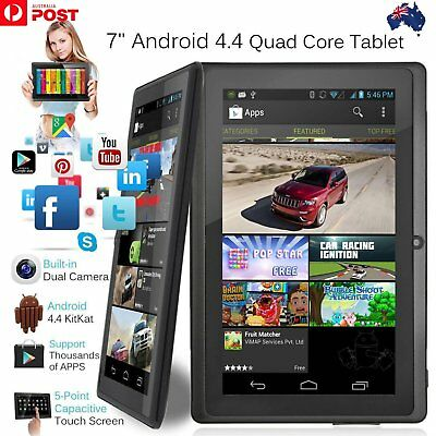 7 Inch Android4.4 Quad Core Dual Camera Tablet 8GB Bluetooth Wifi Tablet Gift AC