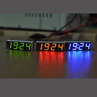 Digital Electronic Clock + Temperature + Voltage LED 12V Car Time Display DIY