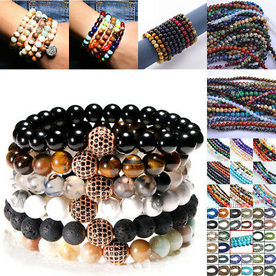 For Beaded Bracelets Necklaces Making Wholesale Natural Stone Round Loose Beads