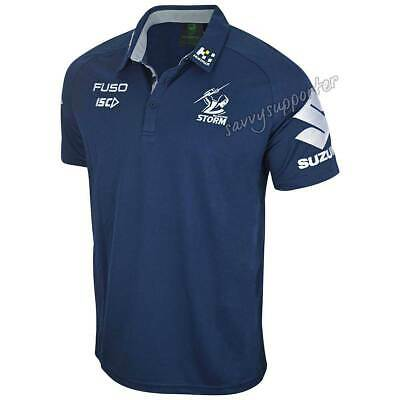 Melbourne Storm 2019 Mens Navy Media Polo Shirt Sizes S-5XL *PRESALE*