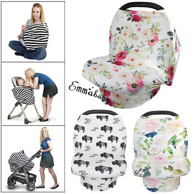 US Nursing Breastfeeding Privacy Scarf Cover Shawl Baby Kids Car Seat Canopy