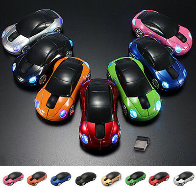 Wireless Mouse 3D Car Shape USB Receiver Optical Tracking For PC Laptop Computer