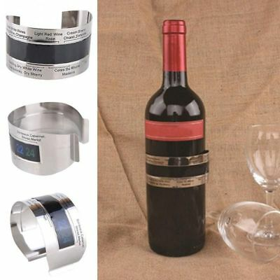 Wine Thermometer Bracelet Stainless Steel 4 To 24 Degrees Celsius Temperature