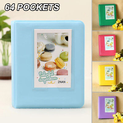 2X 64 Pockets Album For Fujifilm Fuji Instax Mini 7 8 9 70 Instant Film Photos