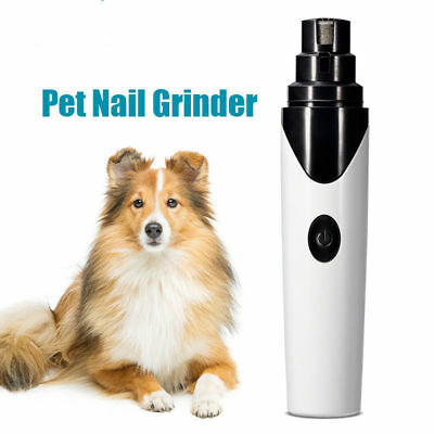 Rechargeable Electric Dog Nail Grinder Trimmer Clipper Pet Nail Grooming Tool