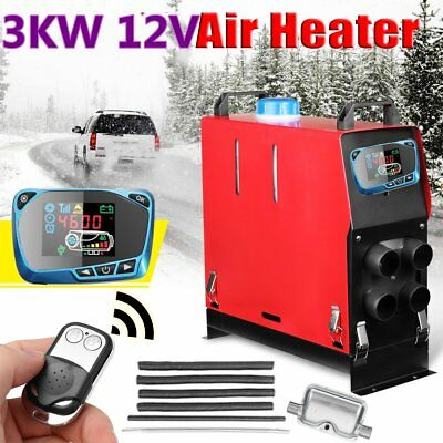 Diesel Air Heater 3KW 12V LCD Switch Remote Truck Motorhome Silencer+Filter MA