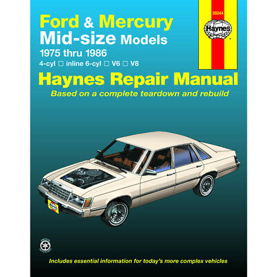 Ford LTD II 1977-1979 Haynes USA Workshop Manual