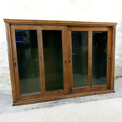 """Vintage Very Large Pine Glazed Display Cabinet Early C20th 6'8 x 4'9"""" (Antique)"""