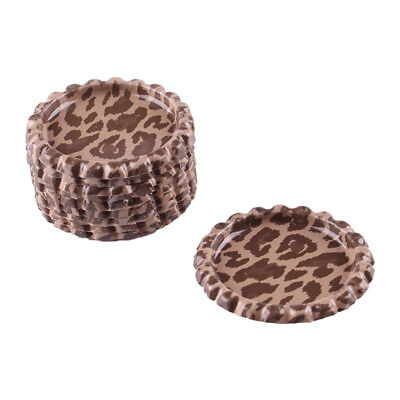 """10pcs Cheetah Leopard Flat Double Sided Colored 1"""" Bottle Caps Hair Crafts"""